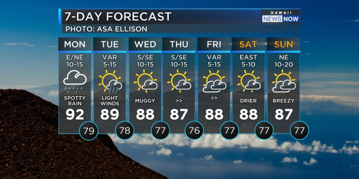Forecast: Spotty downpours possible today with muggy conditions