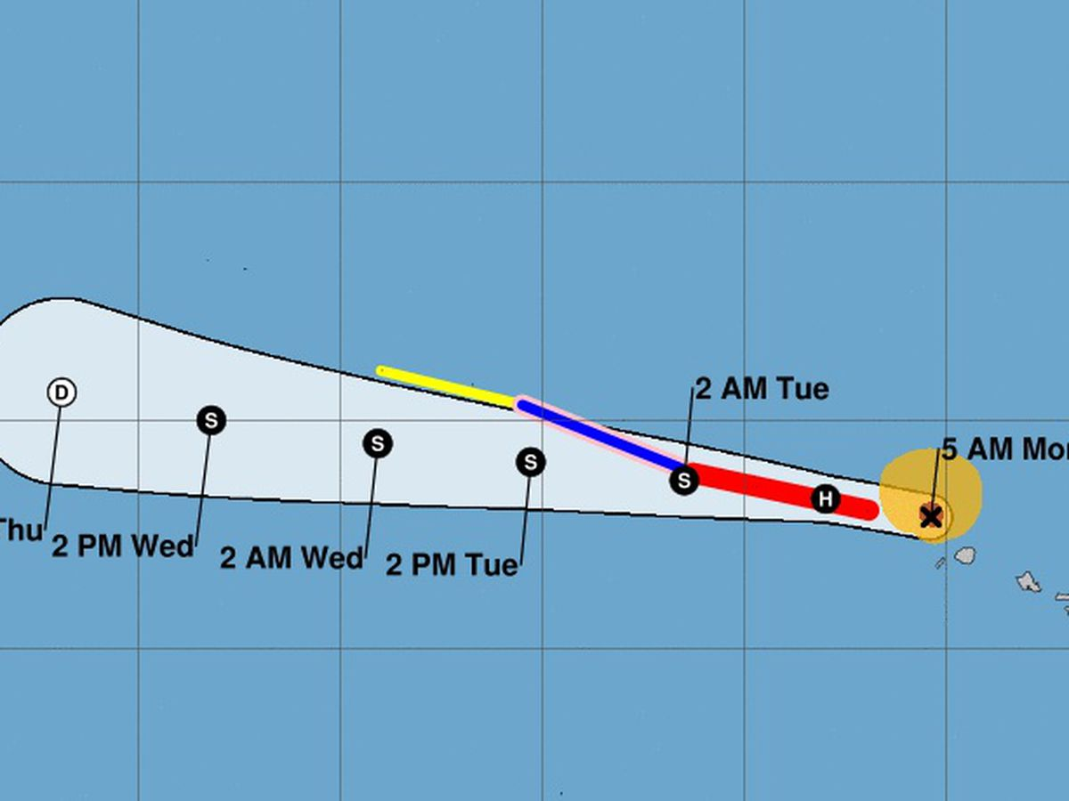 Douglas quickly moving away from state as stubborn Cat 1 hurricane