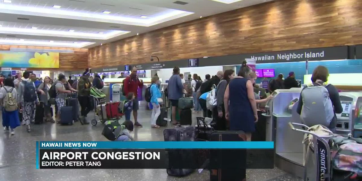 Travelers face long lines, crowded parking lots at Honolulu International Airport