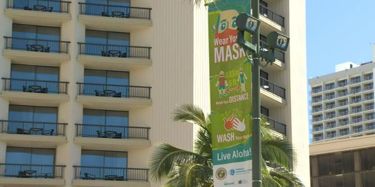 Banners in Waikiki will remind visitors and residents to be COVID-safe