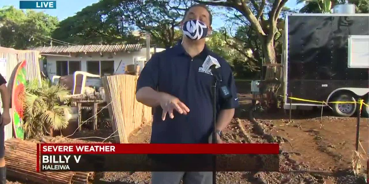 Evacuation order lifted for Haleiwa residents, but threat of flooding remains