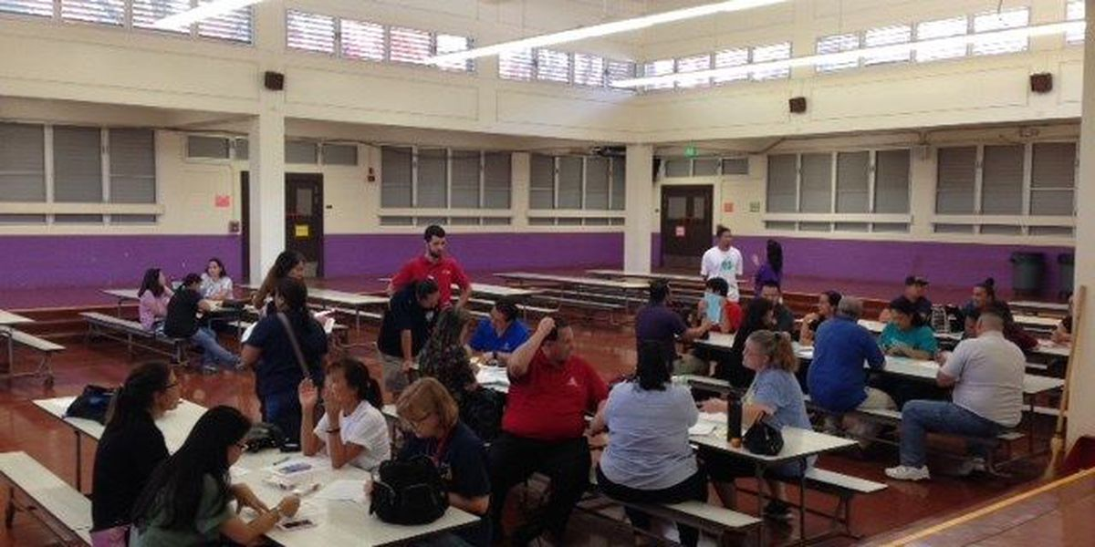 Hawaii teachers evaluate contract proposal at informational meetings