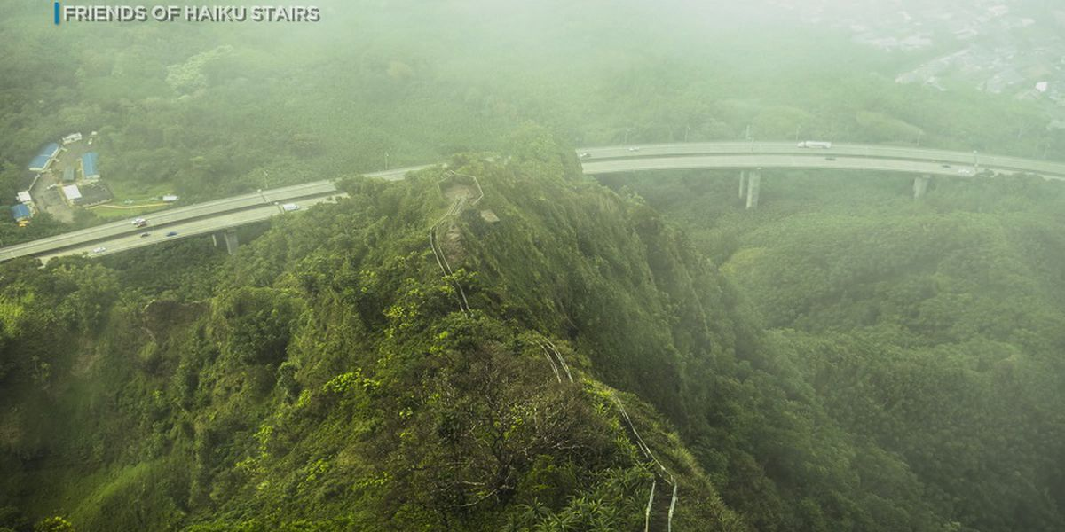 City condemns installation of trampoline on Haiku Stairs