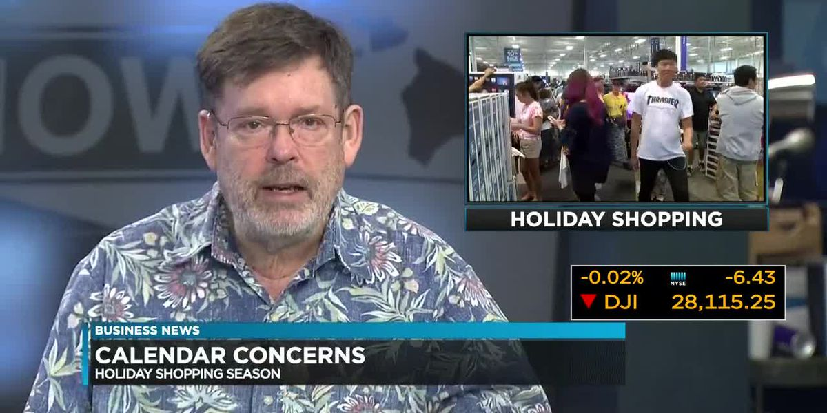 Business Report: Get ready for the shortest holiday season since 2013