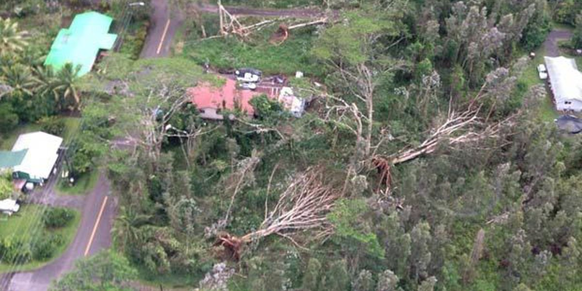 Tropical storm repairs continue at Big Island parks