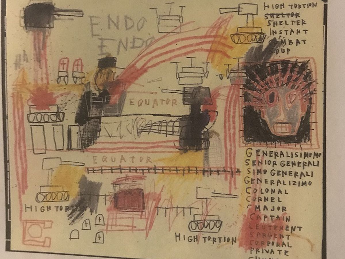 Police: Original Basquiat artwork stolen from Hawaii Island residence