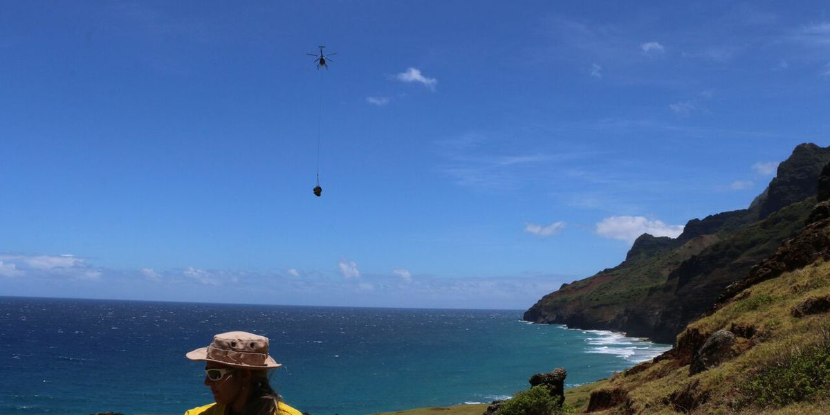 2 and a half tons of trash airlifted from Kalalau Valley, enforcement continues