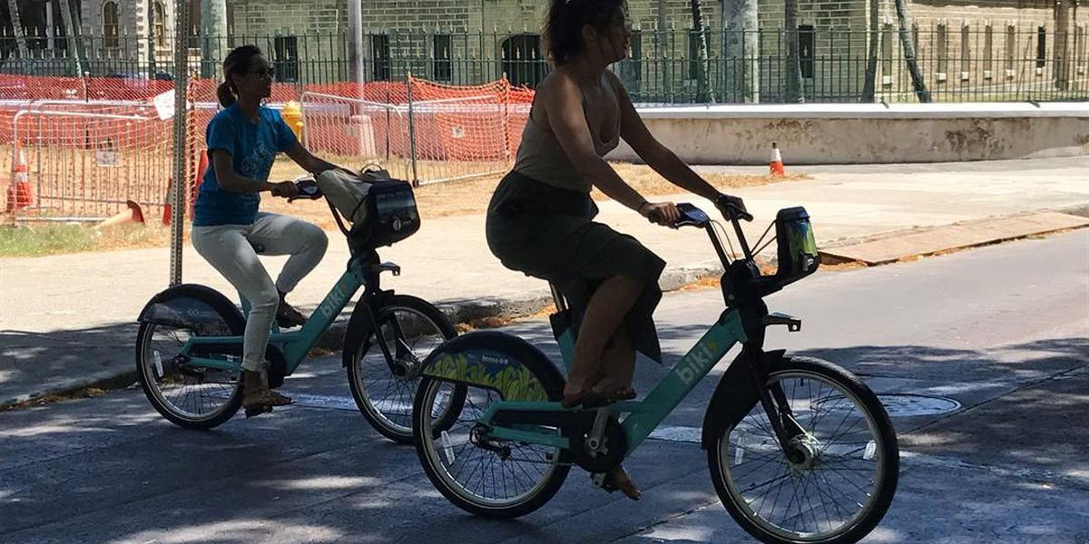 Popularity of Biki bikes is booming — and not just with visitors