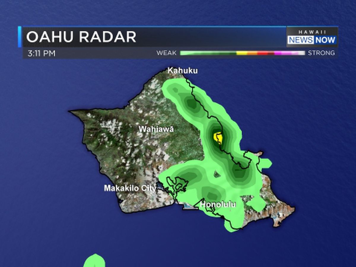 Storm dumps nearly 4 inches of rain on Oahu