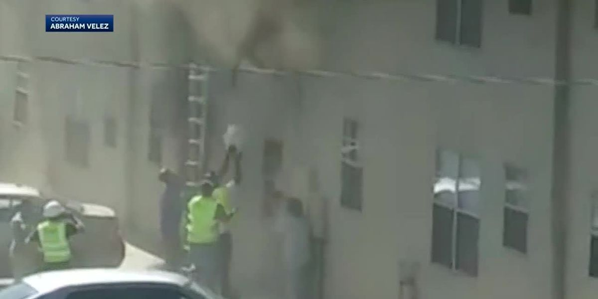 Video: Baby, toddler rescued from burning building