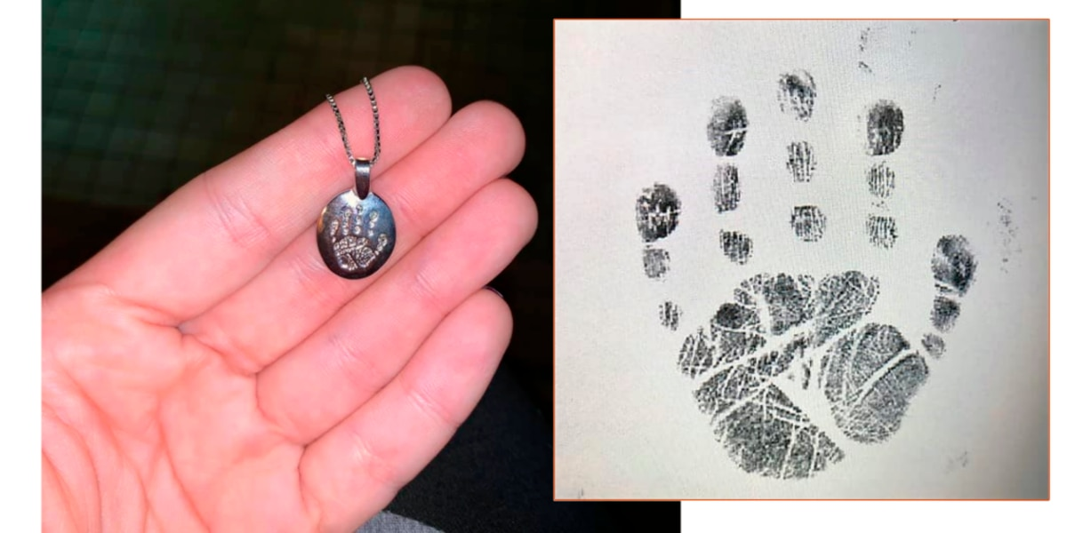 Priceless handprint pendant stolen from mother who lost her infant daughter