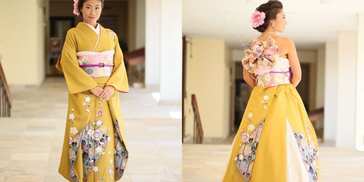 Japanese Wedding Kimono.In A Growing Trend Brides Are Transforming Japanese Kimonos Into