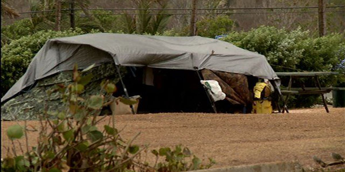 Homeless in Waimanalo see more people in the area