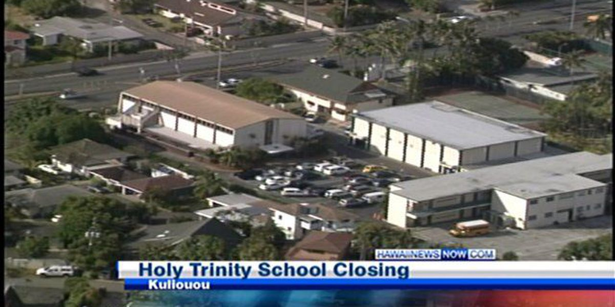 Down economy forces Holy Trinity School to close