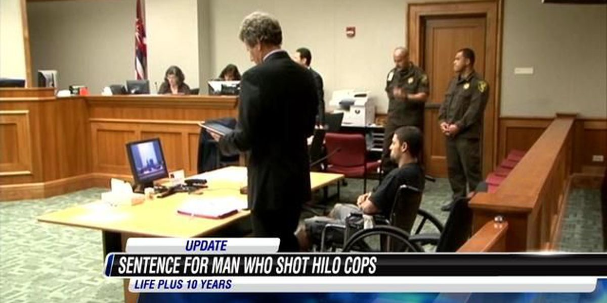 Big Island man gets life plus 10 years in police shooting