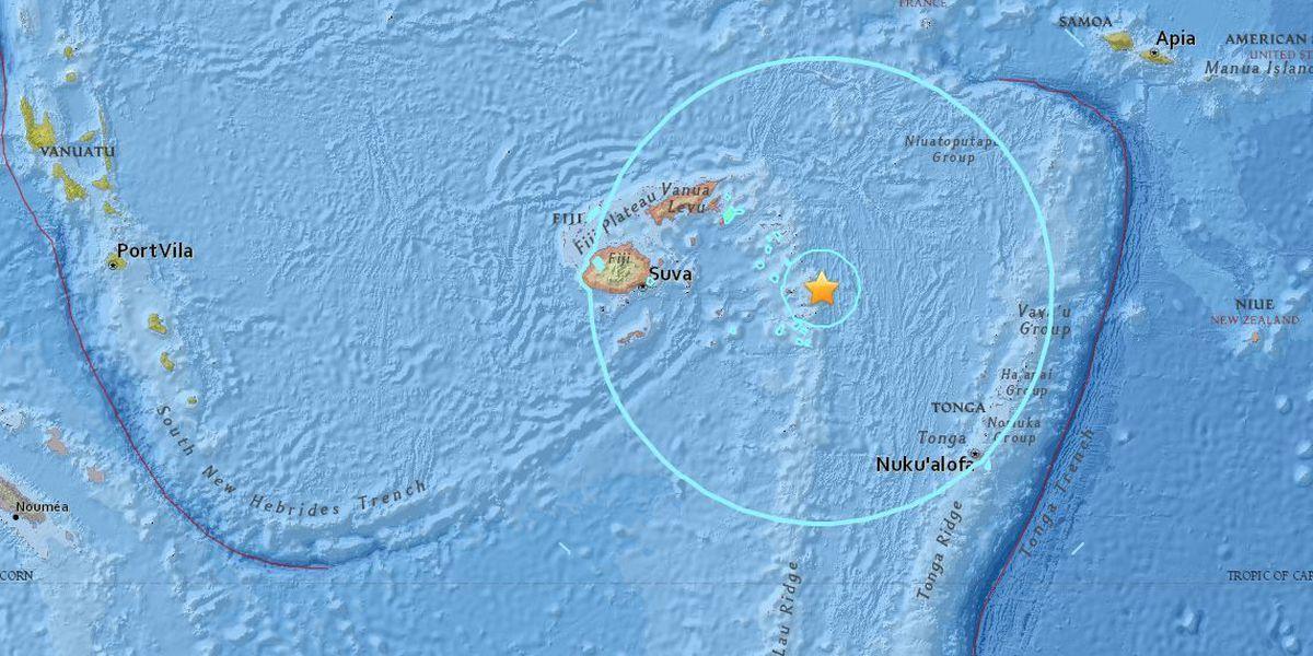 No tsunami threat after 8.2 magnitude earthquake near Fiji