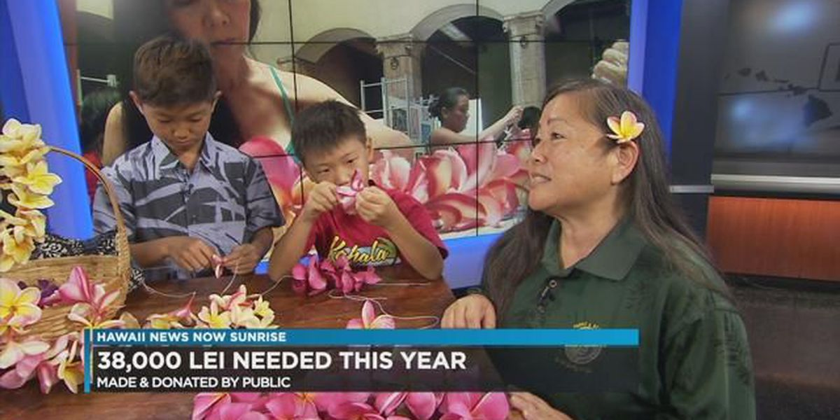 Sew a lei for Memorial Day: 38,000 lei needed
