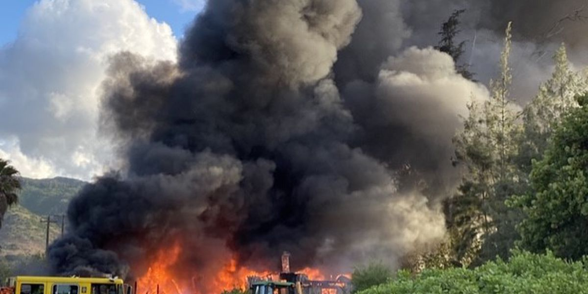 HFD relied on relay pumping to extinguish large 2-alarm Mokuleia fire