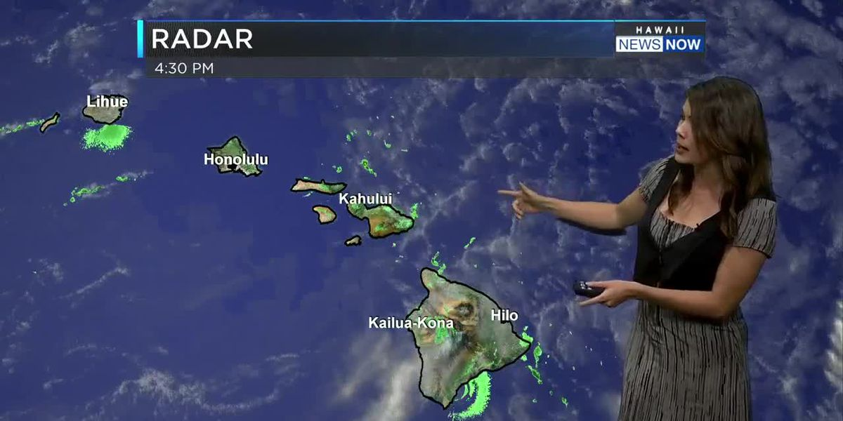 Warm days ahead along with steady trade winds