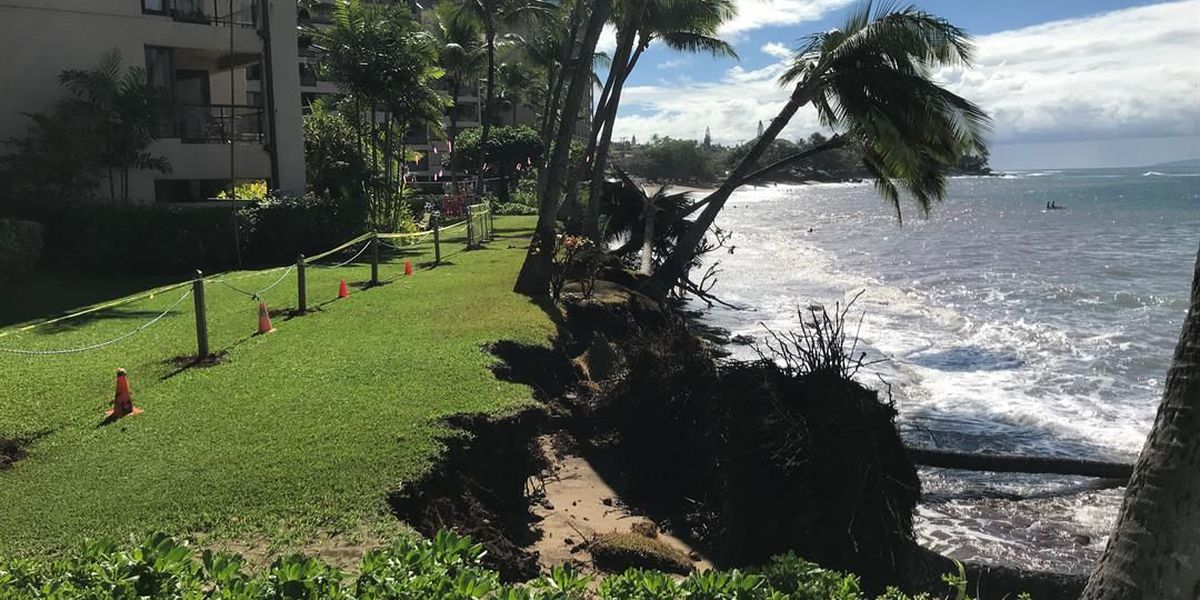 Winter waves are eating away at Maui shorelines and putting oceanfront condos in danger
