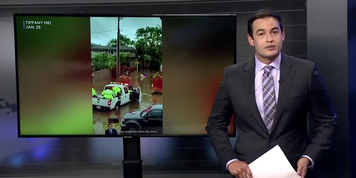 Wailupe resident documents his home getting walloped by flooding