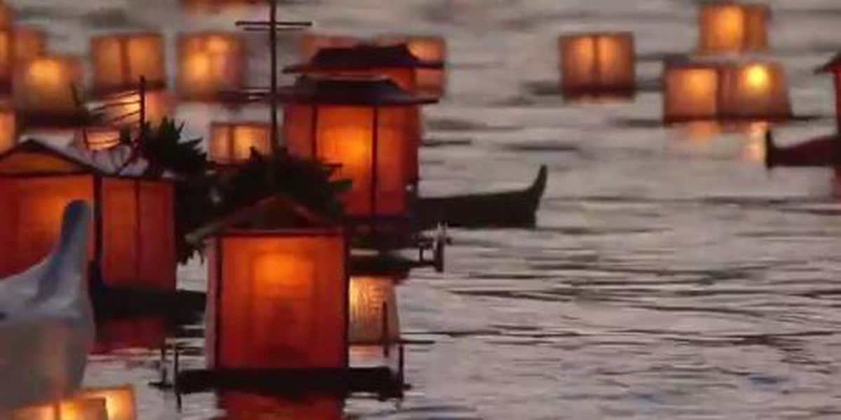 Thousands gather to remember loved ones at lantern floating event