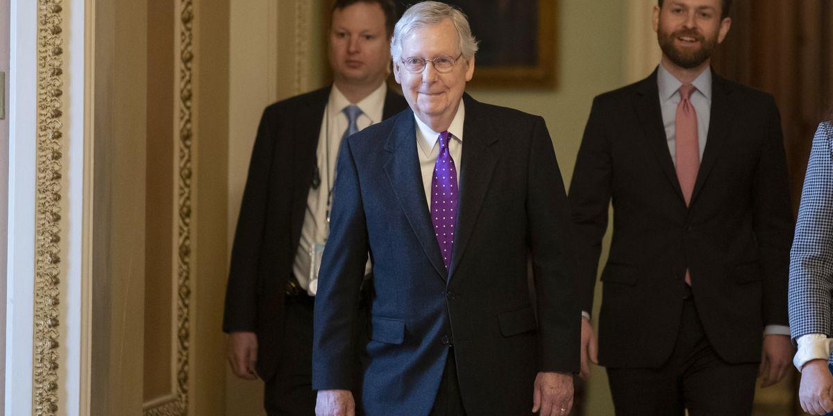 Senate so far split neatly along party lines on impeachment