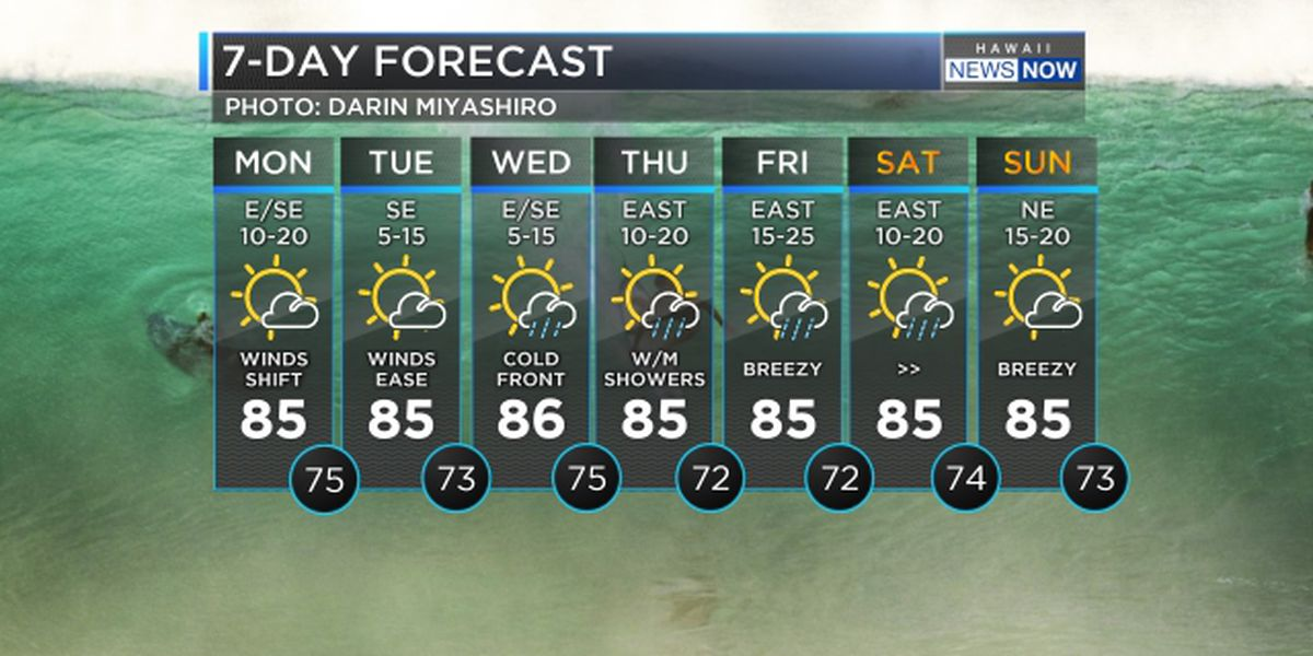 Forecast: Winds slowing down, showers heading in for Thanksgiving