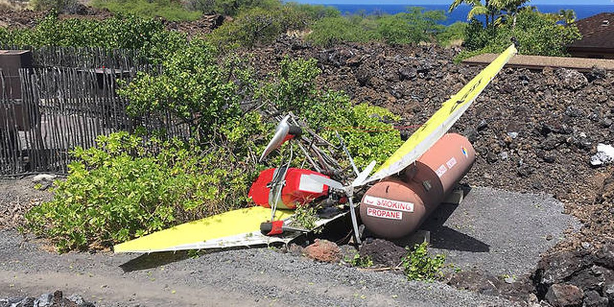 Ultralight aircraft with 2 aboard crashes in North Kona