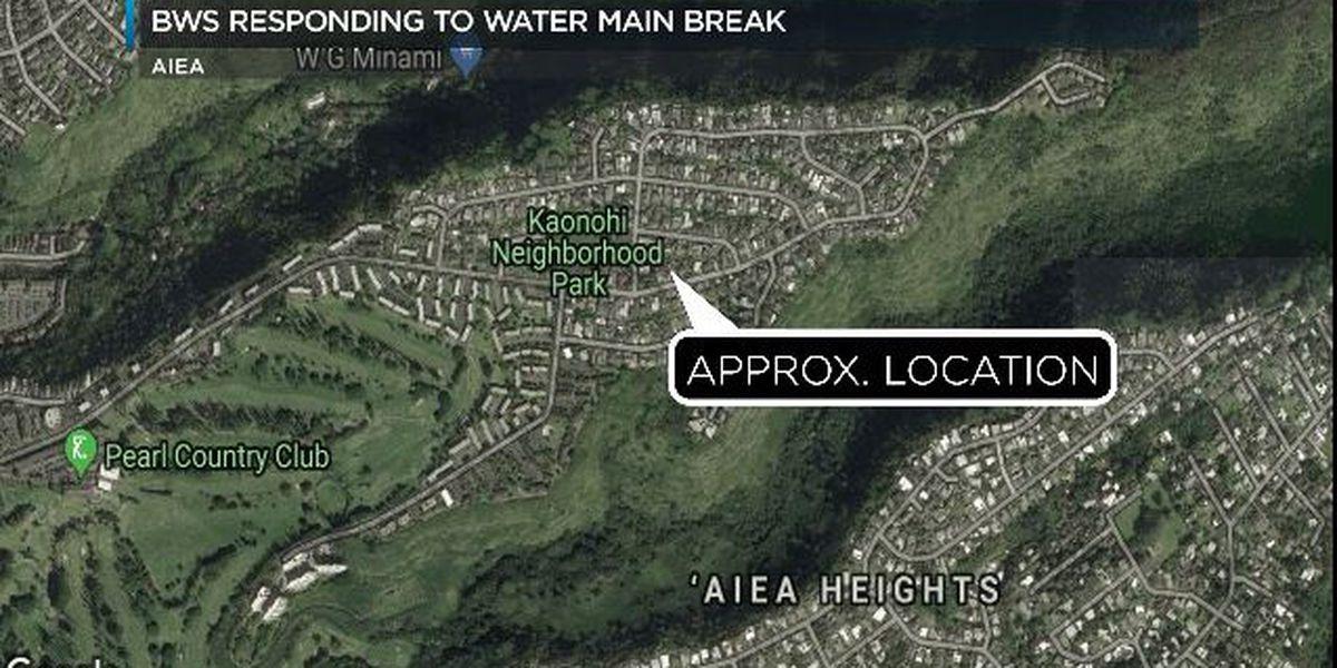 Water restored after main break in Aiea