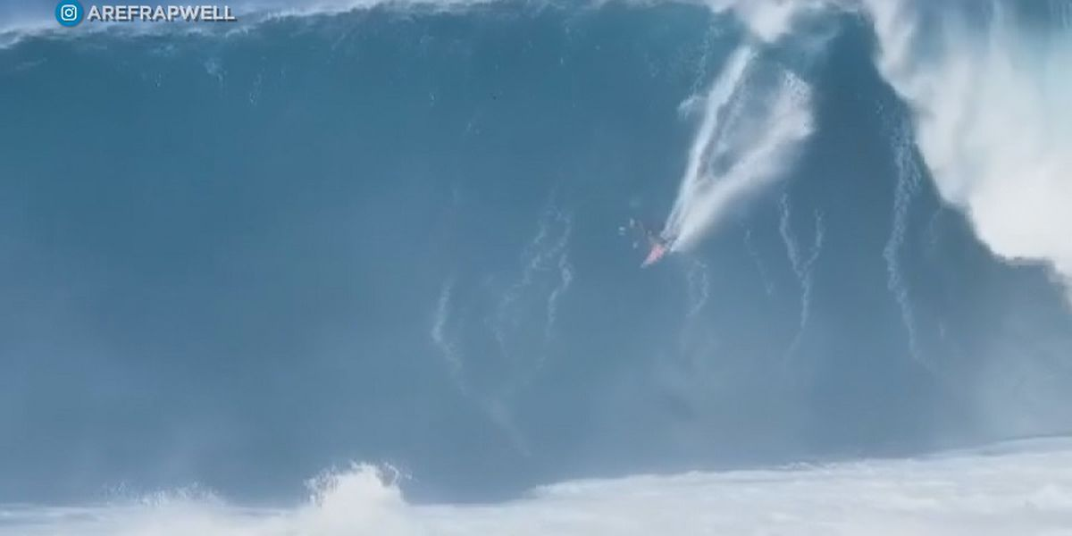 Pro surfer Billy Kemper takes on 'wave of my life' at Peahi as massive swells roll in
