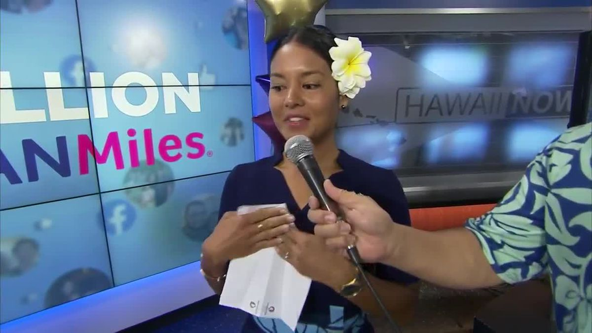 Announcing the winner of the Hawaiian Airlines 1,000,000 Hawaiian Miles giveaway!