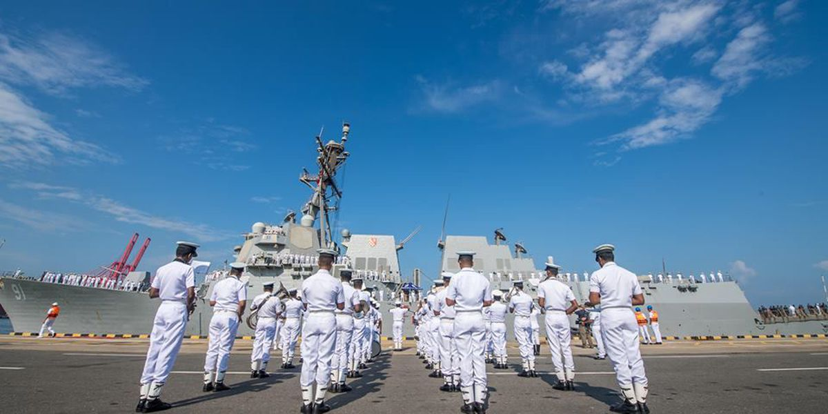 Notice increased presence of sailors in town? Here's why