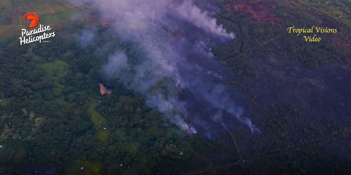 Into thin air: Lava flows claim Hawaii's largest lake in a matter of hours