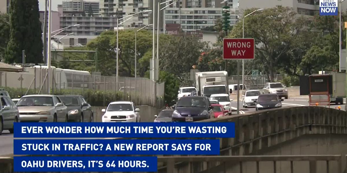 Report: The average Oahu driver spends 64 hours in congestion each year