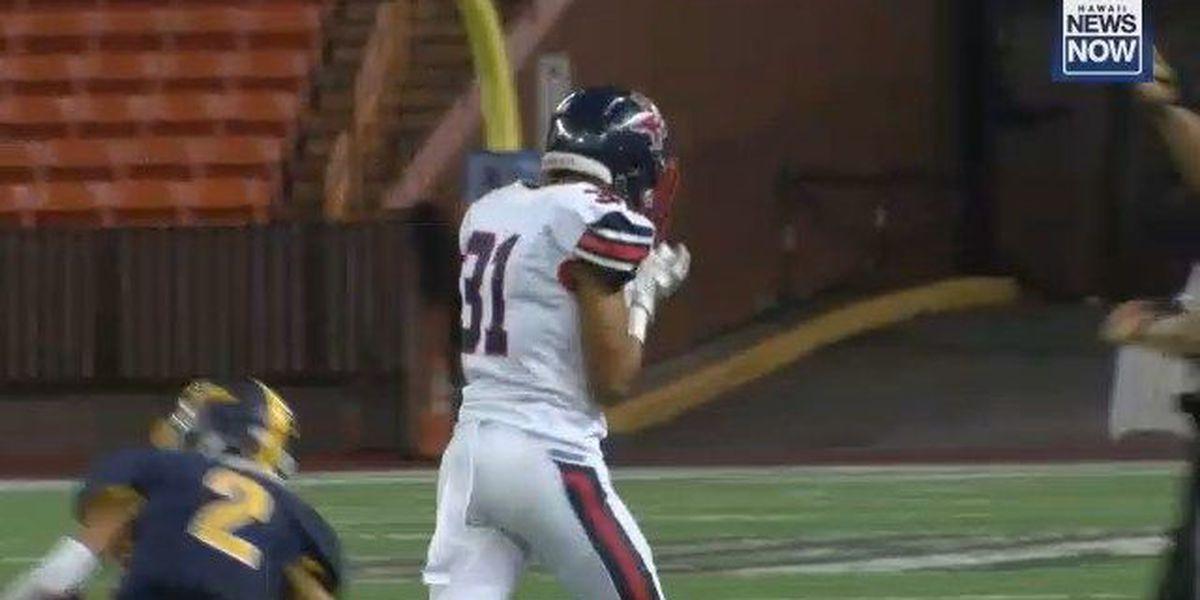 Saint Louis survives Punahou upset bid, 35-28