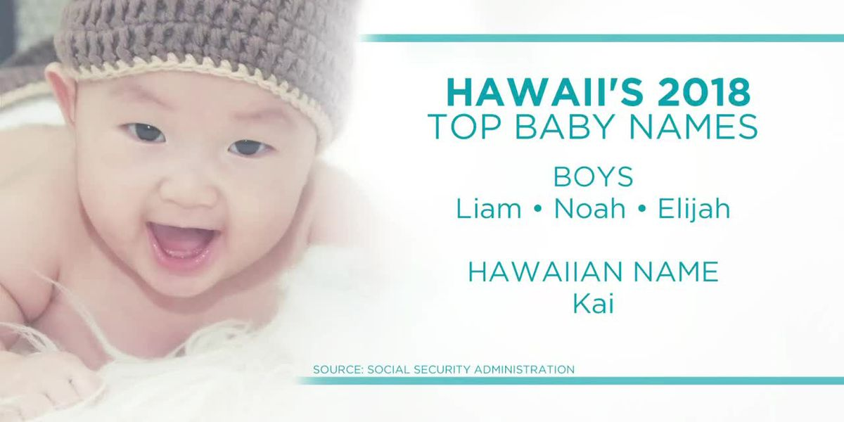 The top baby names in Hawaii last year will sound familiar