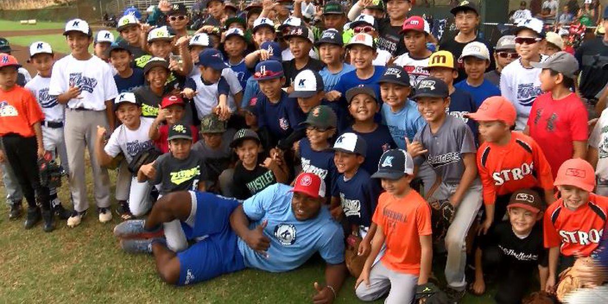 MLB's Puig inspires Hawaii's next generation of baseball players