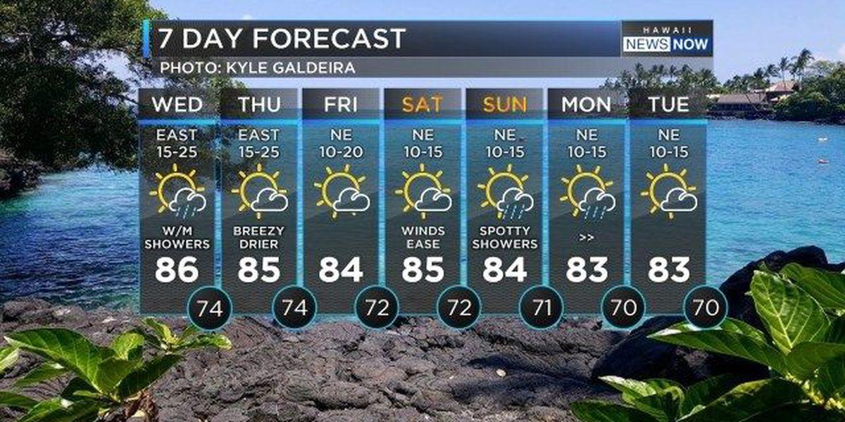 Forecast: Rain — possibly heavy — expected tonight