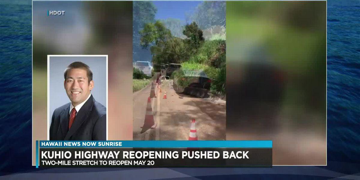 Kauai's mayor discusses the delay on reopening Kuhio highway