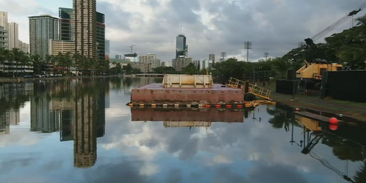 Ala Wai Canal dredging project delayed, meaning more late-night work expected