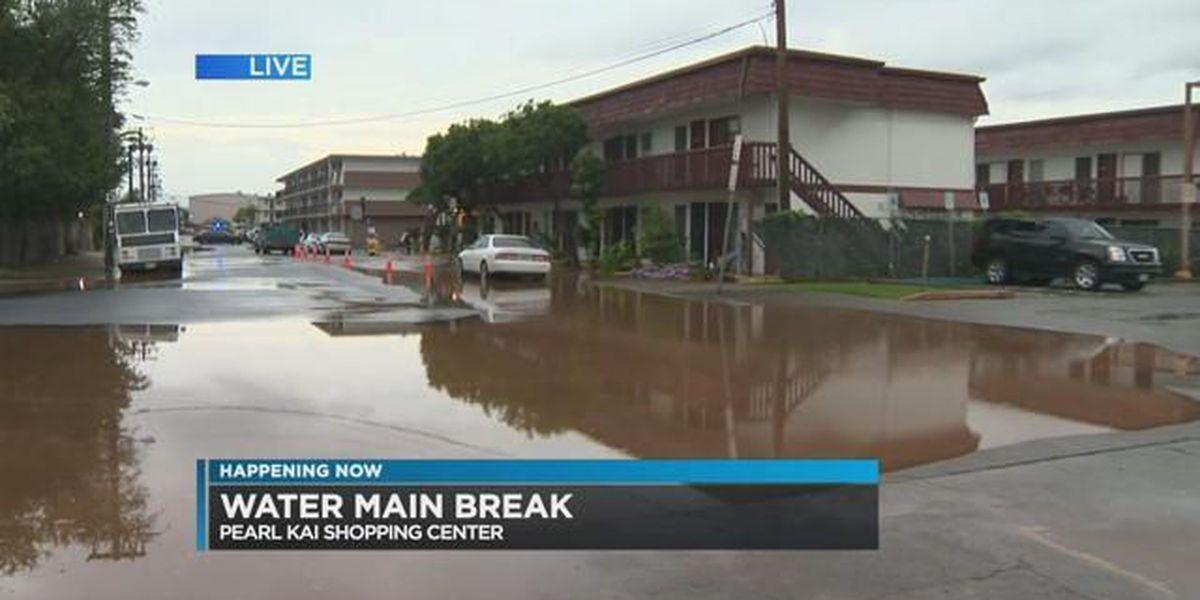 BWS crews responding to water main break near Pearl Kai Shopping Center