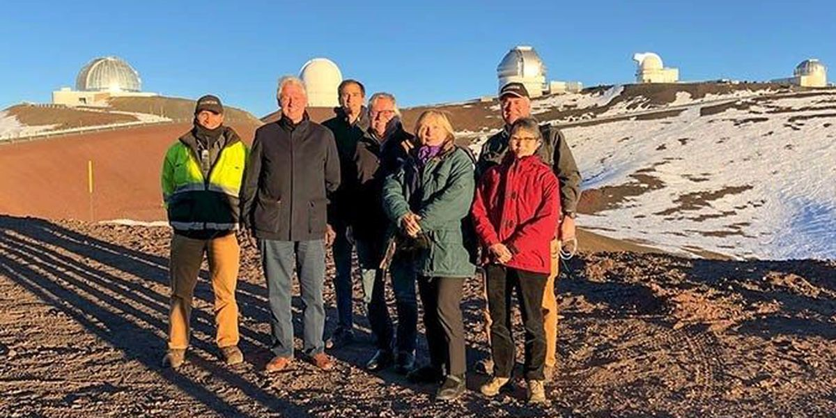 Clintons get a lesson in science and culture during visit to Mauna Kea