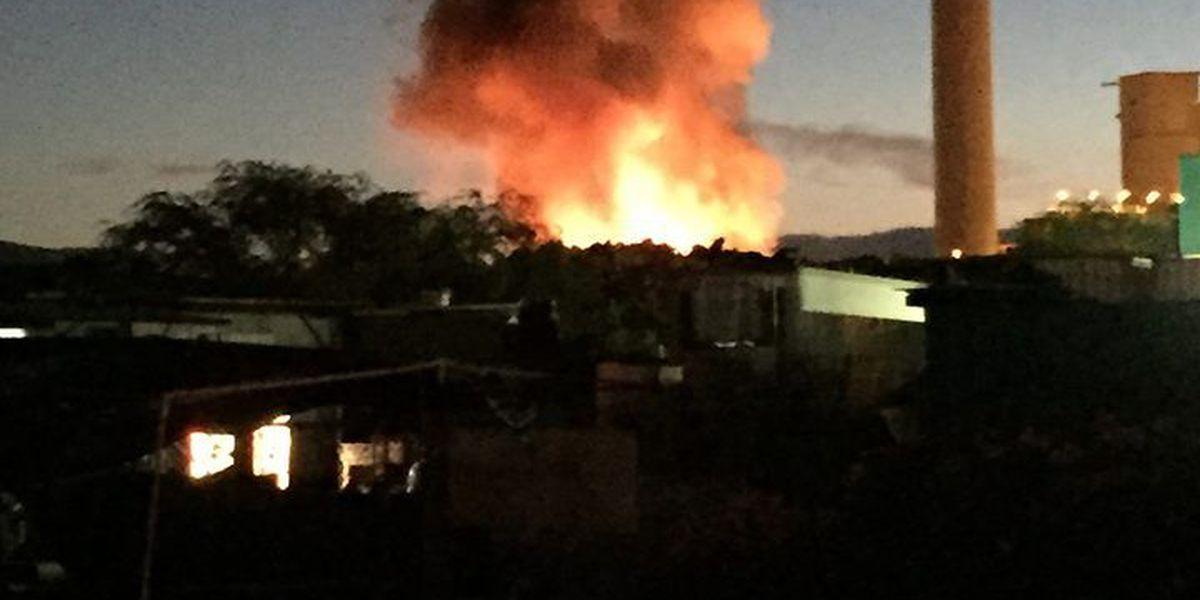 Update: Honolulu firefighters battle blaze at Kapolei Island Recycling center