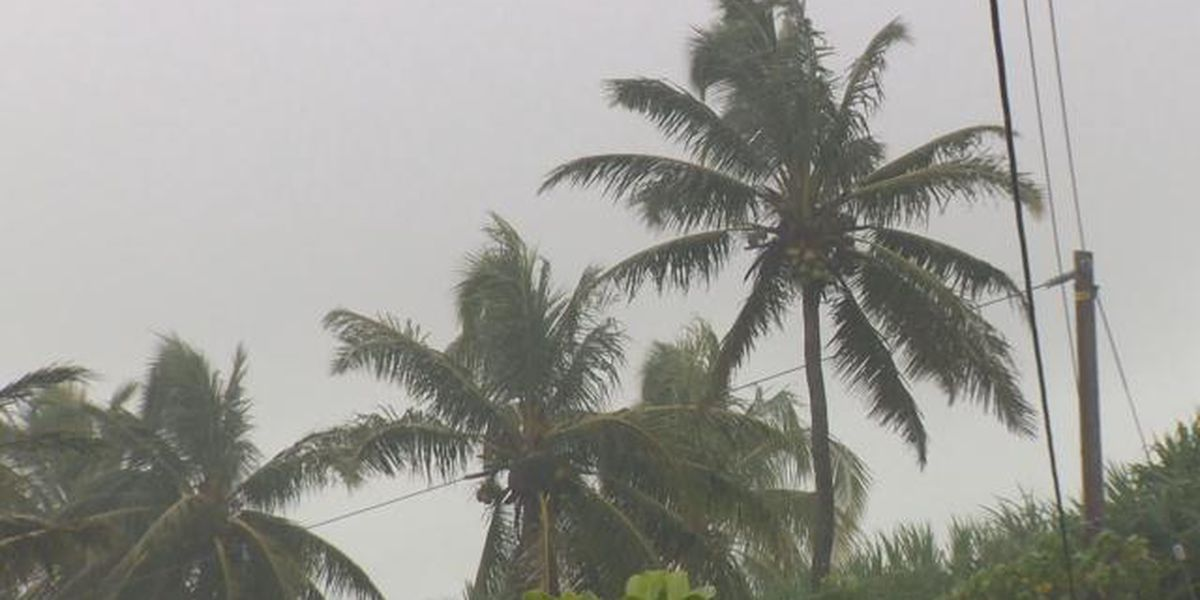 Flash flood watch posted for Maui, Big Island, with wet weather possible statewide