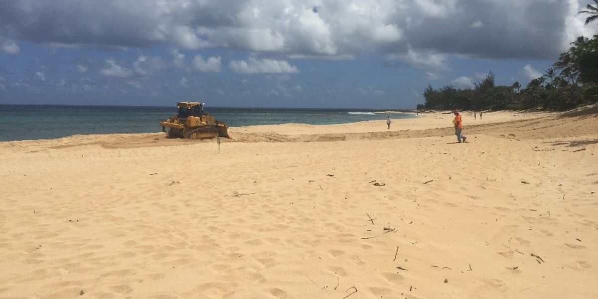 Beach restoration project underway on Oahu's North Shore