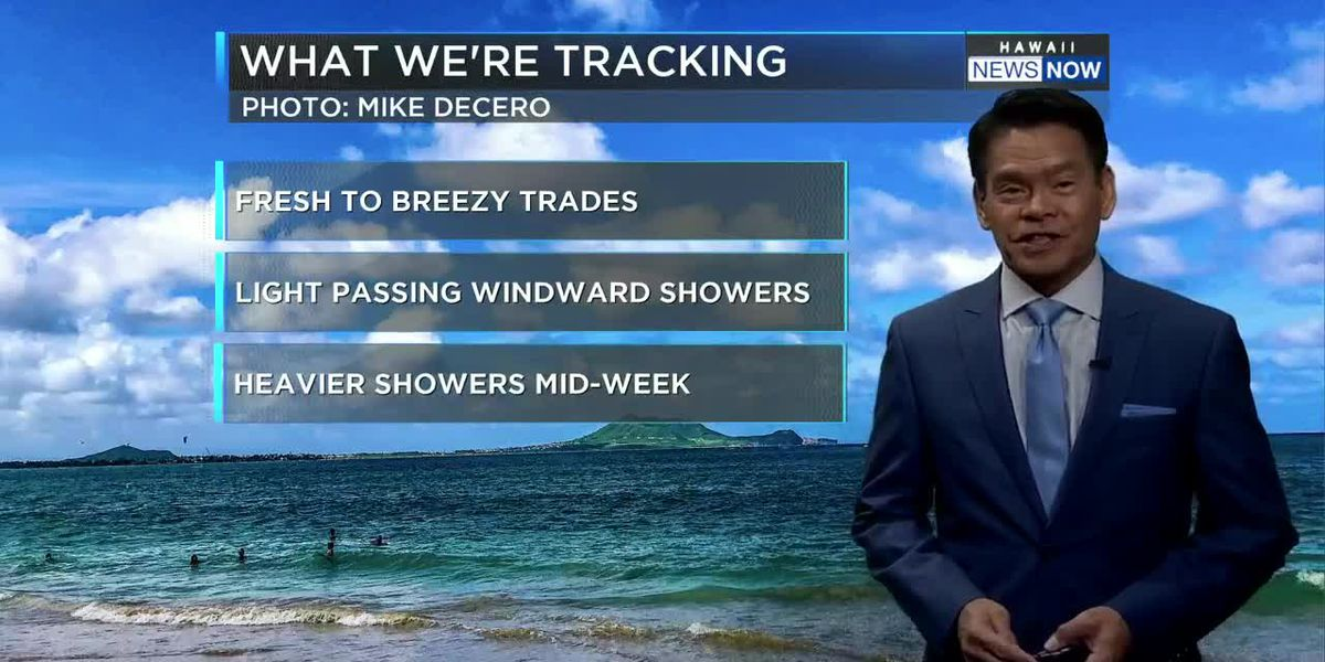 Forecast: Great outdoor weather for Discoverer's Day holiday, more showers mid-week