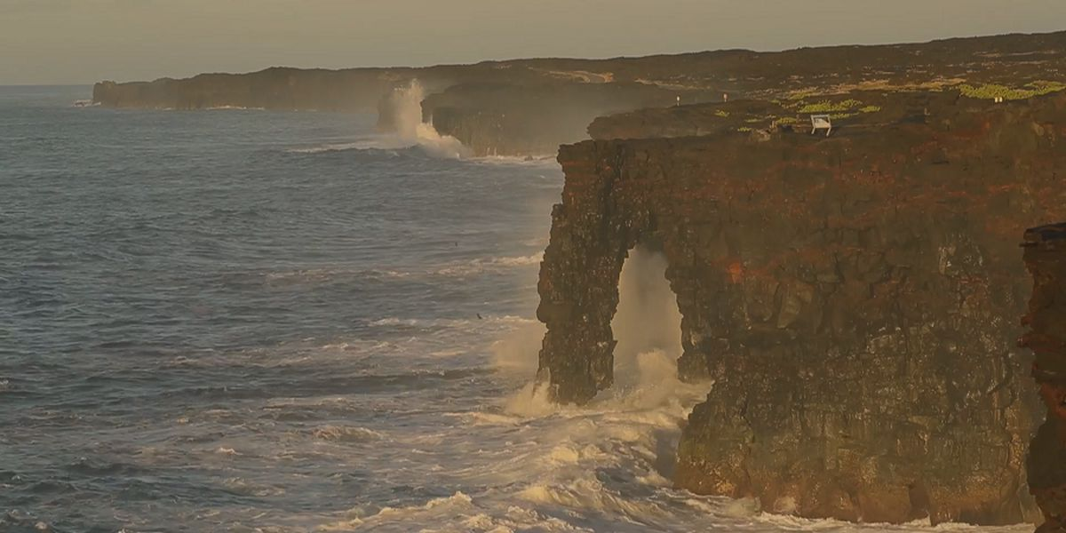 Famed Holei Sea Arch on Hawaii Island off limits due to cracks, instability