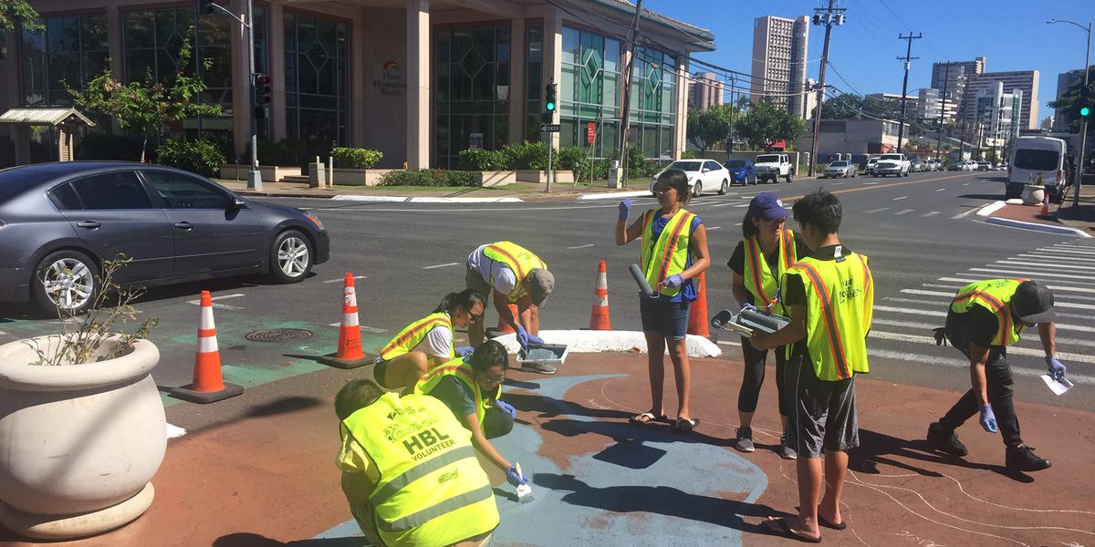 Moiliili art installation is meant to attract drivers' attention (and slow them down)