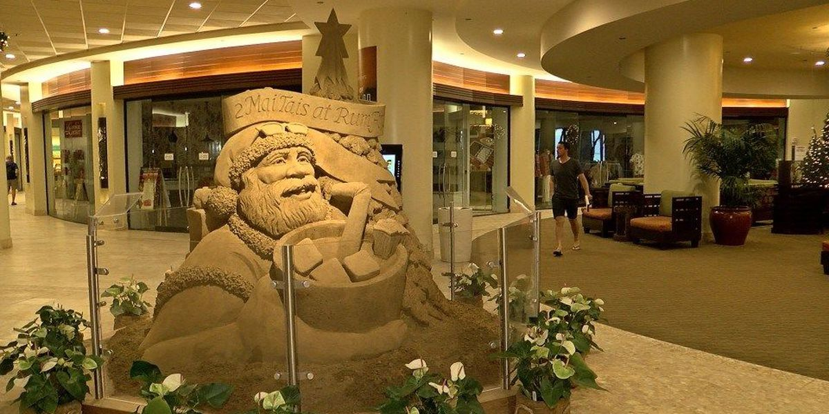 Forget ice. Sand sculptures are a draw in Waikiki